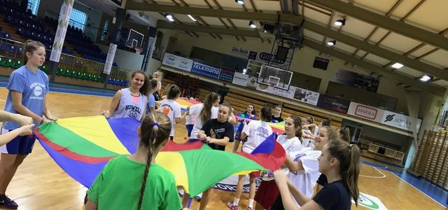 """Zajęcia """"Team Building"""" czyli integracja drużyny koszykarskiej."""